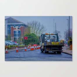 Roadworks, where do they end? - Coventry, England Canvas Print