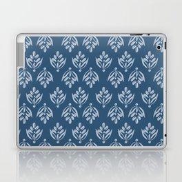 Simple Leafy pattern blue Laptop & iPad Skin