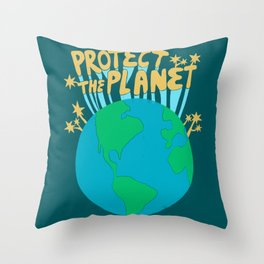 PROTECT THE PLANET Throw Pillow