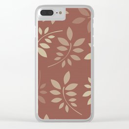 Scattered Leaves Clear iPhone Case
