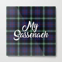 My Sassenach - Blue & Green Metal Print
