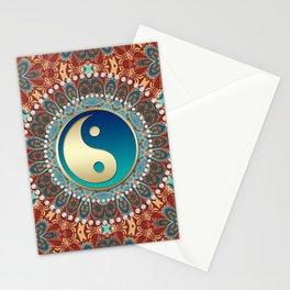 Bohemian Batik Yin Yang Stationery Cards
