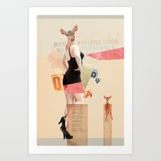 Dear Deer Girl Art Print
