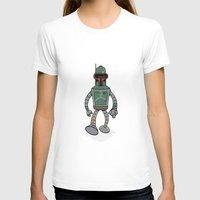 bender T-shirts featuring Bender Fett by Andy Whittingham