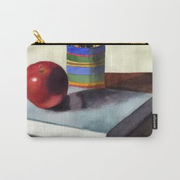 Teachers Desk Watercolor Painting Carry-All Pouch