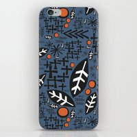 mid century iPhone & iPod Skins featuring mid century fun by jennifer judd-mcgee