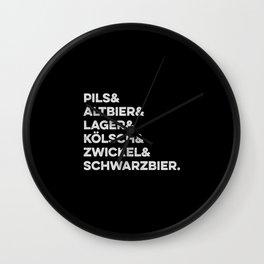 German types of beer / Deutsche Biersorten Wall Clock