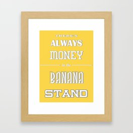 Banana Stand (Arrested Devt) Framed Art Print