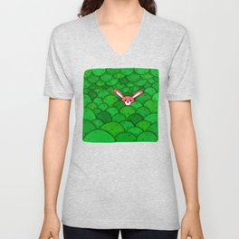 Where is Bunny? Unisex V-Neck