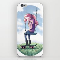 princess bubblegum iPhone & iPod Skins featuring bubblegum princess by Martina Naldi