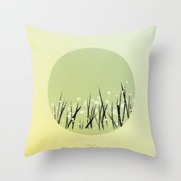 [9.08—9.12] Dew Glistens White On Grass Throw Pillow