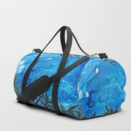 Whale and Seahorse Duffle Bag