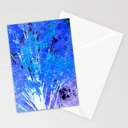 Blue Violet tree leaves Stationery Cards
