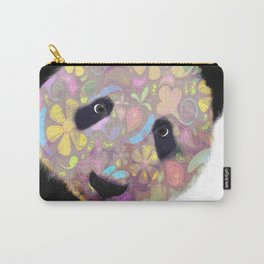 Patterned Panda Bear Carry-All Pouch