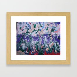 Organically Disturbed Beliefs Uprooted Framed Art Print