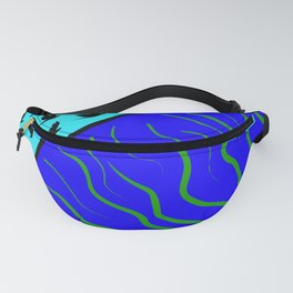 Flying Bird. Crows fly over planet Earth Fanny Pack
