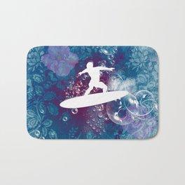 Sport, surfboarder Bath Mat