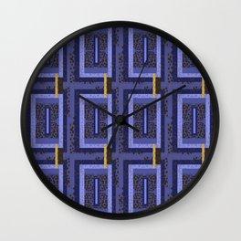 Flowers over Jewel Purples By Danae Anastasiou Wall Clock