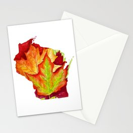 Wisconsin Leaves Stationery Cards