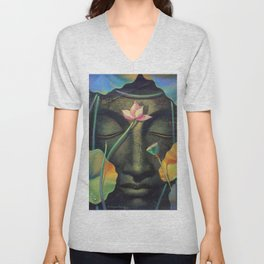 statue of lord budha Unisex V-Neck