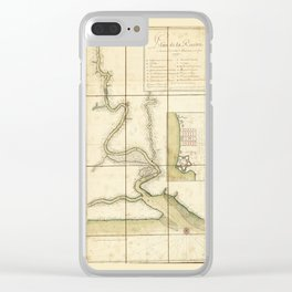Plan de la riuiere de Suriname (1713) Clear iPhone Case