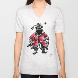 Zhong Kui the Ghost Catcher  Unisex V-Neck