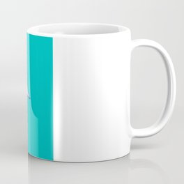 Swan, navy lines on turquoise Coffee Mug