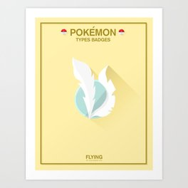 Pokémon Types Badges: Flying Type Art Print