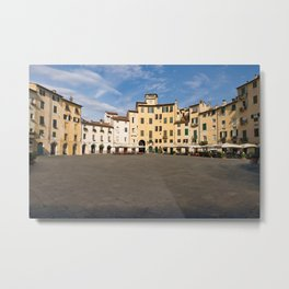 Piazza Anfiteatro in Lucca (Tuscany) Metal Print