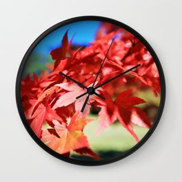 Japanese Maple Leaves 2 Wall Clock