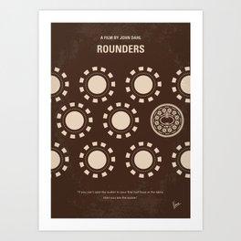 No503 My Rounders minimal movie poster Art Print