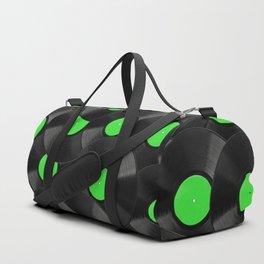 Vinyl Records Pattern (Green) Duffle Bag