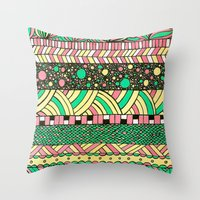 nyc Throw Pillows featuring NYC by Mariana Beldi