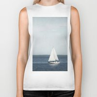 sail Biker Tanks featuring Set Sail by Pure Nature Photos
