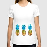 pineapples T-shirts featuring Many pineapples by Yilan