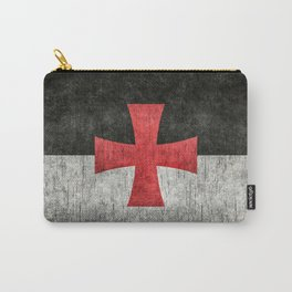 Knights Templar Flag in Super Grunge Carry-All Pouch