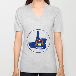 Thumbs Up Michigan Unisex V-Neck