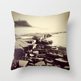 The Misty Shore Throw Pillow