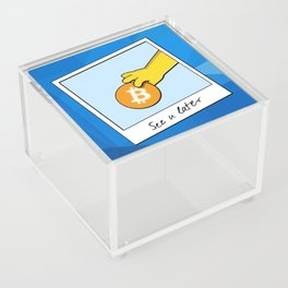 See you later Bitcoin on blue facets Acrylic Box