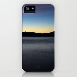 Blue and Gold Sunrise Over the Bay iPhone Case