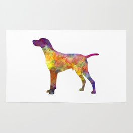 Hungarian Shorthaired Pointer in watercolor Rug