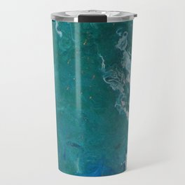 A View From Space, abstract acrylic fluid painting Travel Mug