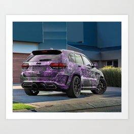Jeep Cherokee SRT Artrace body-kit Art Print