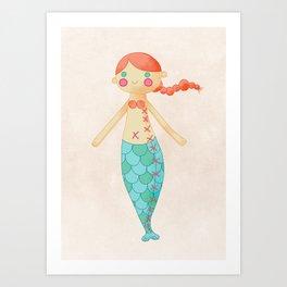 Mermaid doll Art Print