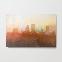 Jacksonville, Florida Skyline - In the Clouds Metal Print