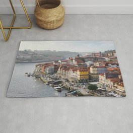 Porto's Cityscape. The Ribeira area alongside the Douro River. Rug