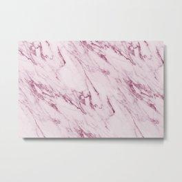 Mauve Pink Marble Metal Print