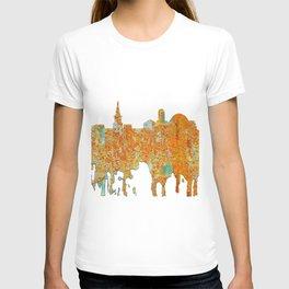 Alexandria, Virginia Skyline - Rust T-shirt