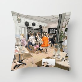 Coracle Cafe Throw Pillow