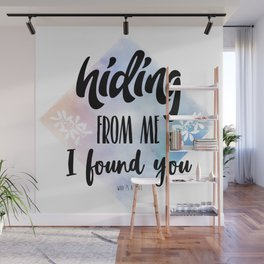 Hiding from me Wall Mural